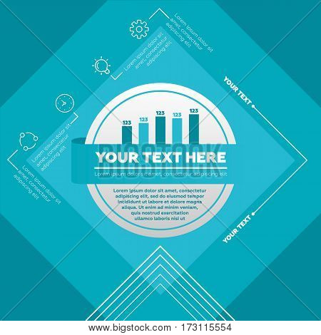 Infographic elements - bar chart and icons. Vector illustration