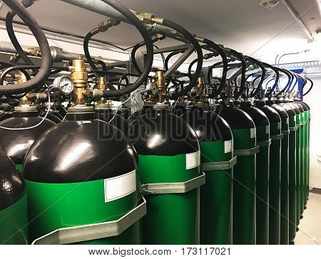 industrial CO2 fire extinguishing system for a data center