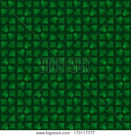 Seamless casino gambling poker background with green poker symbols vector illustration. Ideal for printing onto fabric and paper or scrap booking