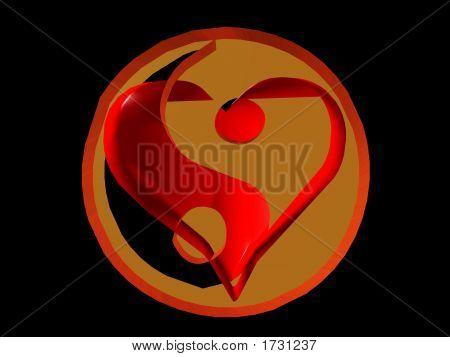 Yin Yang And Heart
