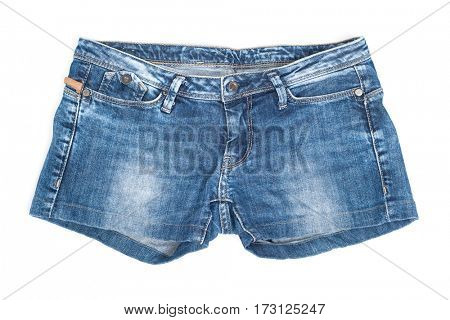 Denim shorts isolated on white