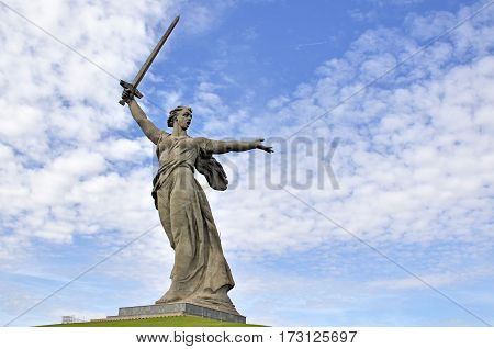 Monument Motherland in Volgograd, Russia, in honor of the victory in the battle of Stalingrad