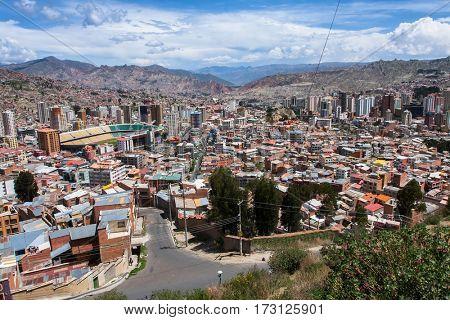 View of La Paz, Bolivia.