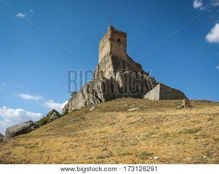 Image of Atiensa castle in Castilla la Mancha Spain
