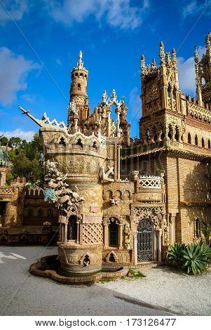 Colomares Castle, Benalmadena, Andalusia, Spain