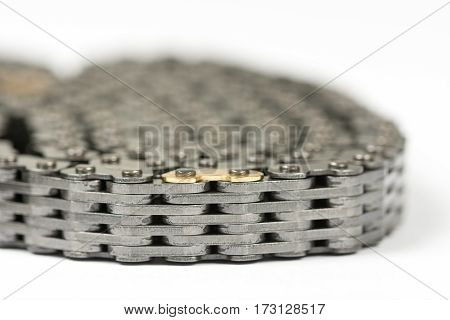 Car Engine Timing Chain Belt Isolated
