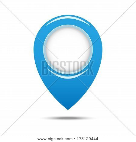 Pin Geo Location Isolated Icon Design, Vector Illustration Graphic. Eps 10.