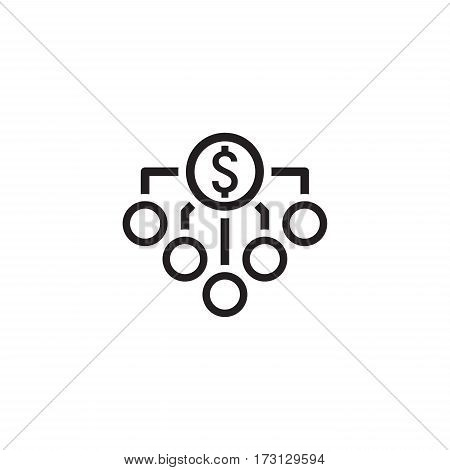 Return on Investment Icon. Business Concept. Flat Design. Isolated Illustration.