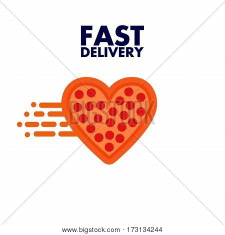 Fast delivery honest pizza heart with wings