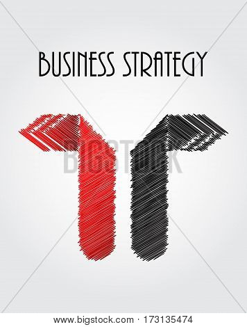 abstract business background with arrows - origami design