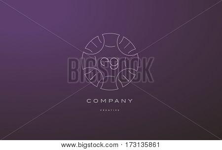 Eg E G Monogram Floral Line Art Flower Letter Company Logo Icon Design