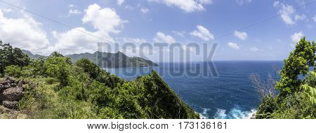 Coastline With Jungle At The Island Of Dominica