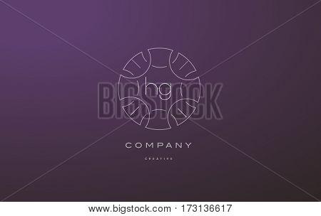 Hg H G Monogram Floral Line Art Flower Letter Company Logo Icon Design