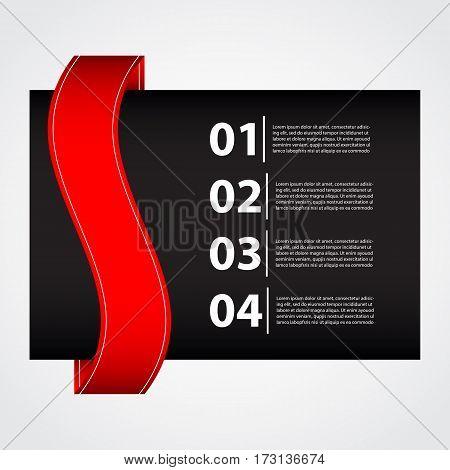 black- red business brochure, vector design, eps10
