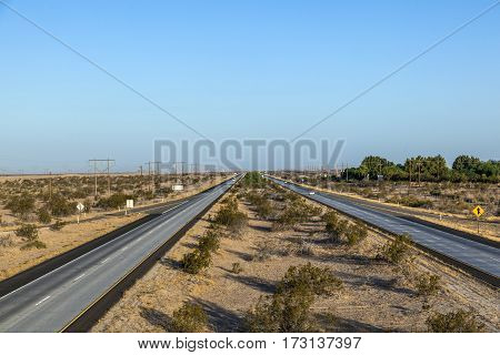 Highway Interstate 8 In The Desert Area