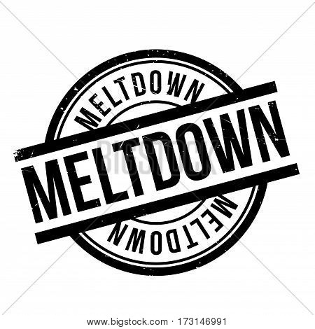 Meltdown rubber stamp. Grunge design with dust scratches. Effects can be easily removed for a clean, crisp look. Color is easily changed.