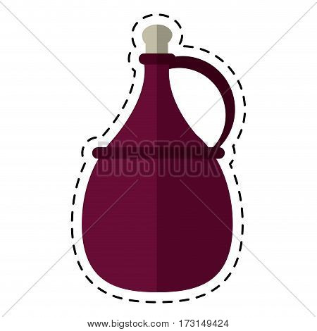 cartoon wine carafe cork icon vector illustration eps 10
