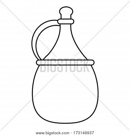 wine carafe cork thin line vector illustration eps 10
