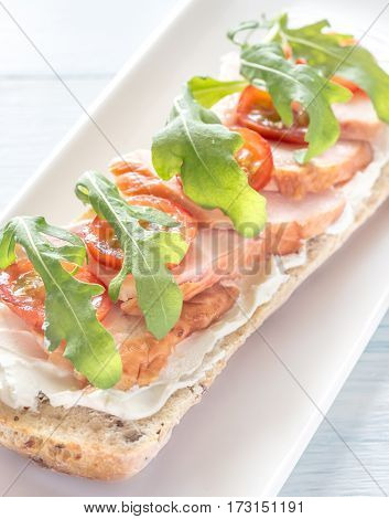 Sandwich With Cream Cheese And Chicken