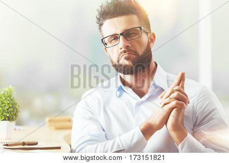 Man With Gun Hands