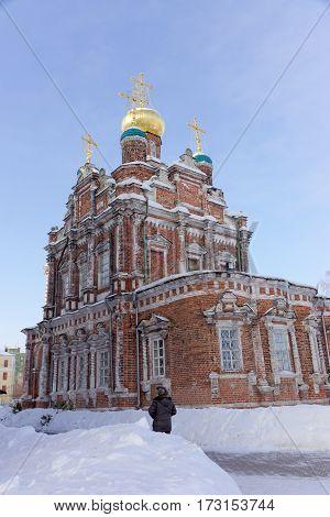 Nizhny Novgorod, Russia. - February 6.2017. Church of the Presentation of the Vladimir Icon of the Mother of God