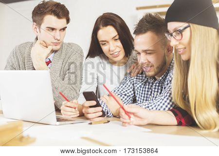 People Checking Cellular Phones