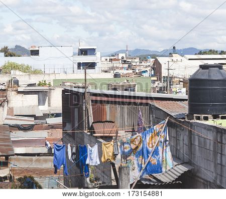 Scene From A City In Guatemala, Central America