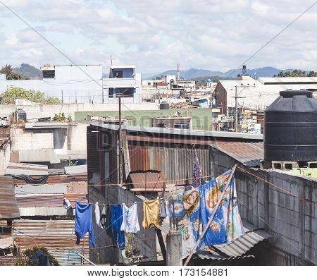 Scene From A City In Guatemala, Central America