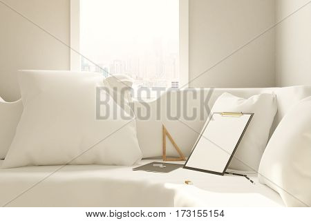 Sofa With Empty Clipboard