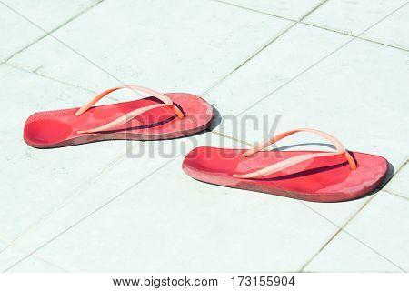 Red Flip-flops On The Sun