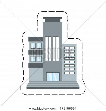 cartoon building living place vector illustration eps 10