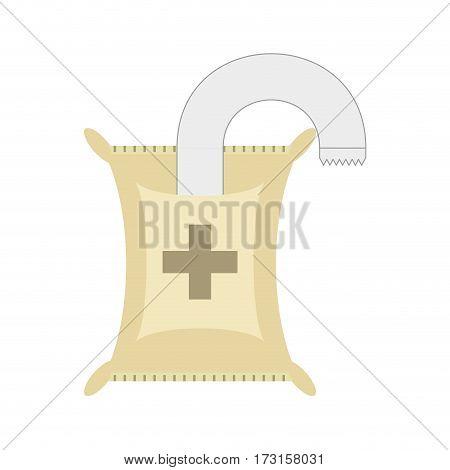 iv medicine saline bag vector illustration eps 10