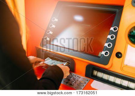 Woman Getting Money