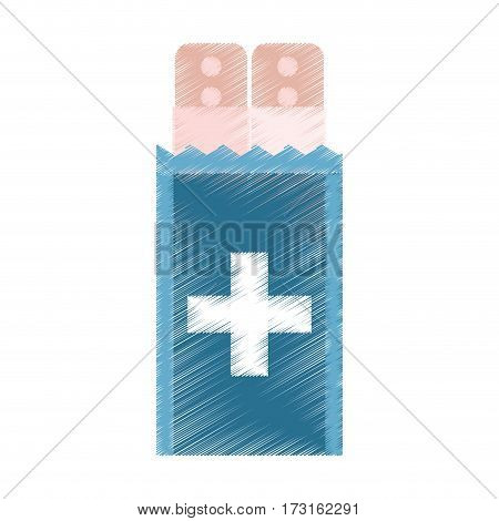 drawing band plaster first aid vector illustration eps 10