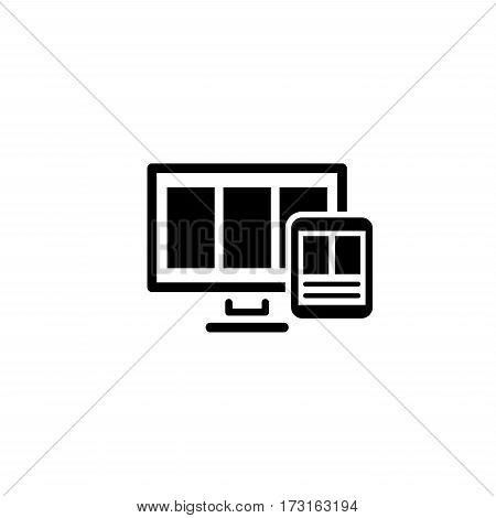 Smart Optimization Icon. Business Concept. Flat Design. Isolated Illustration.