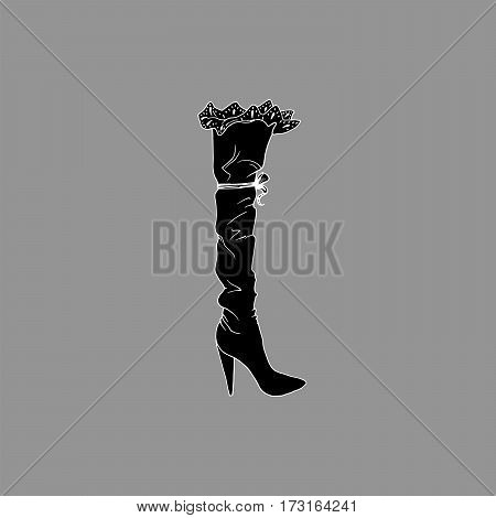 High-heeled shoes set for woman. Fashion footwear artwork in zenshoe style pattern fill. Isolated clipart for coloring book pages design
