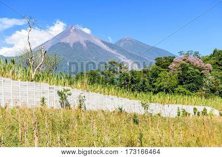 Fuego & Acatenango volcanoes, Guatemala, Central America