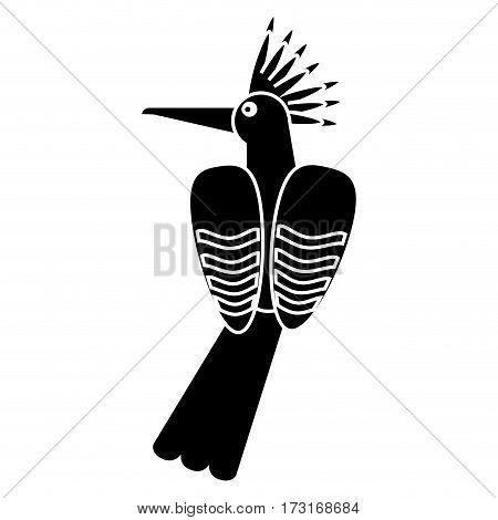 hoopoe bird exotic pictogram vector illustration eps 10