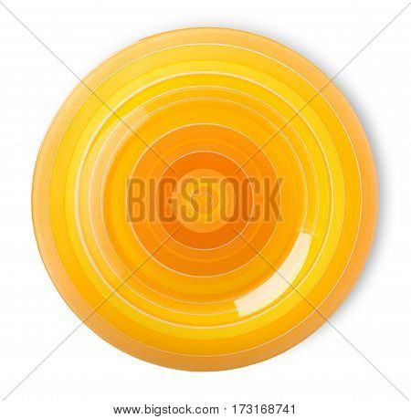 Orange plate isolated on a white background