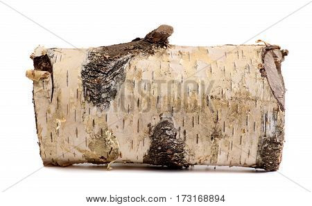 log isolated on a white background. wooden log firewood