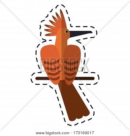 cartoon hoopoe bird exotic icon vector illustration eps 10