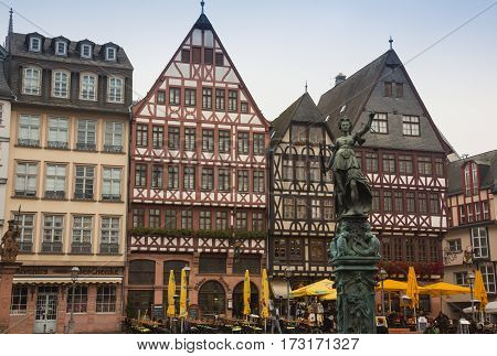 Historic town square with bildings in Bremen, Germany