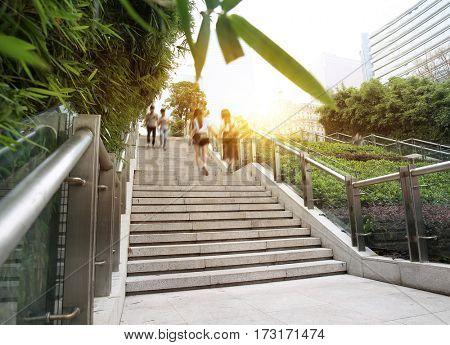 Guangzhou, China, the modern the stairs