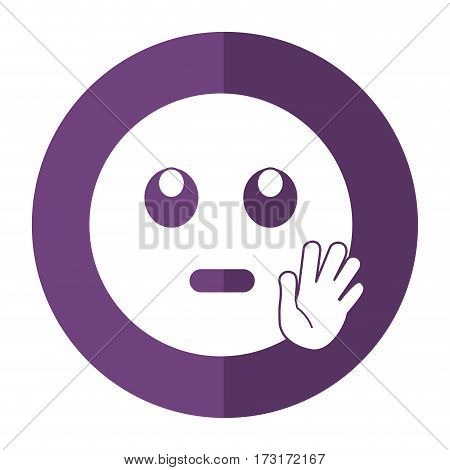 eye rolling emoticon funny shadow vector illustration eps 10