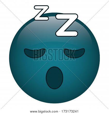 sleepy emoticon funny icon vector illustration eps 10