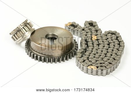 Car Engine Timing Chain Set Isolated