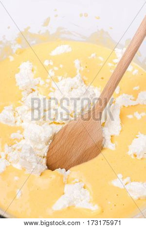 Cornbread Mixture With Cheese