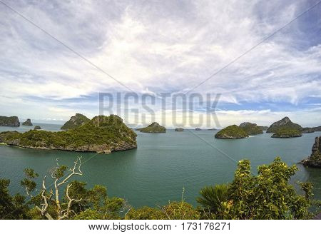 Thailand Beautiful paradise Beach the green blue Ang Thong National Marine Park
