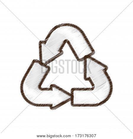 recycle arrow environment design vector illustration eps 10