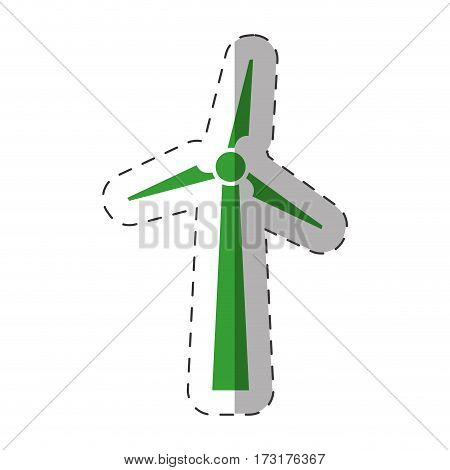 wind mill electric environment design vector illustration eps 10